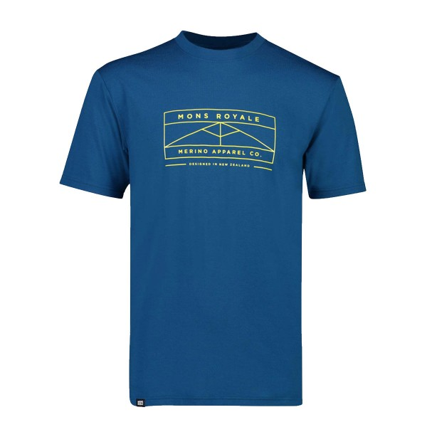 Mons Royale Icon T-Shirt oily blue 19/20