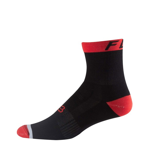 "Fox Logo Trail 6"" Sock flame red"