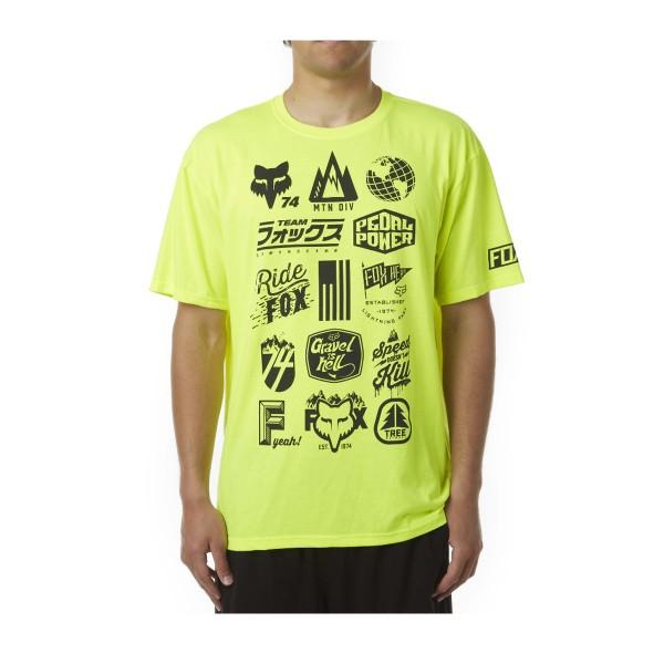 Fox MTN Division Tech Tee flo yellow 2016