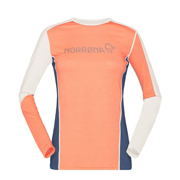 Norrona baselayer equaliser merino Round Neck Shirt wms flamingo 2020