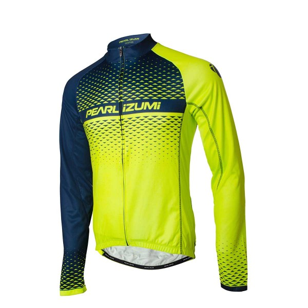 Pearl Izumi Elite LTD Thermal LS Jersey screaming yellow / navy 19/20