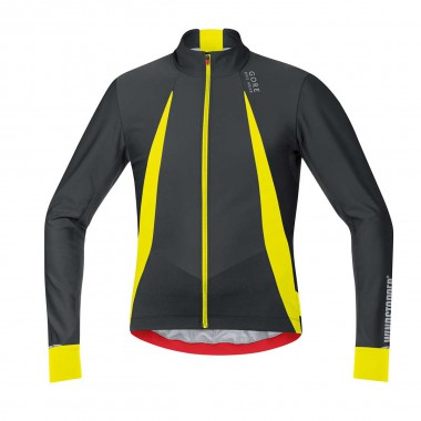 Gore Oxygen Windstopper Trikot lang black/neon yellow 17/18